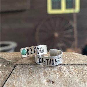 Single wrap stamped rings